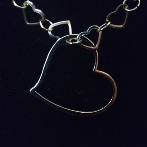 3D Floating Heart necklace